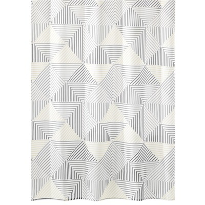 mDesign Polyester Fabric Decorative Shower Curtain