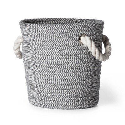 Coiled Rope Storage Bin Small Chevron - Cloud Island™ Gray