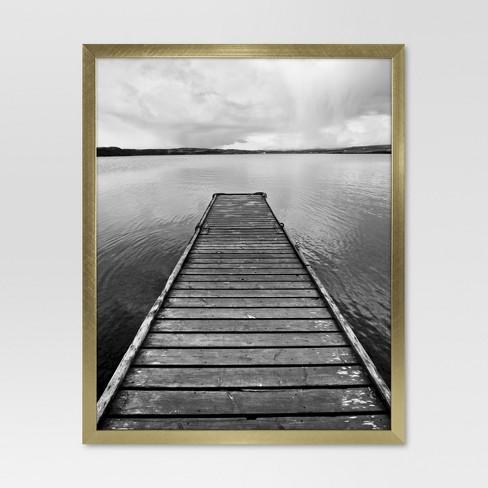 Metal Single Image Frame 8x10 Gold Project 62 Target
