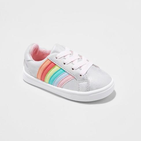 Toddler Girls' Alexandria Low Top Sneakers - Cat & Jack™ Silver 6 - image 1 of 3
