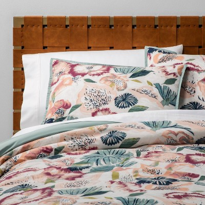 Full/Queen Printed Comforter Set Floral - Opalhouse™