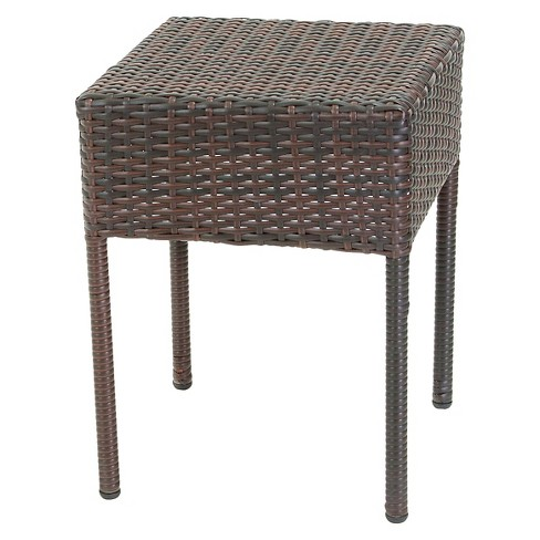 Admirable Sadie Wicker Patio Accent Table Christopher Knight Home Alphanode Cool Chair Designs And Ideas Alphanodeonline