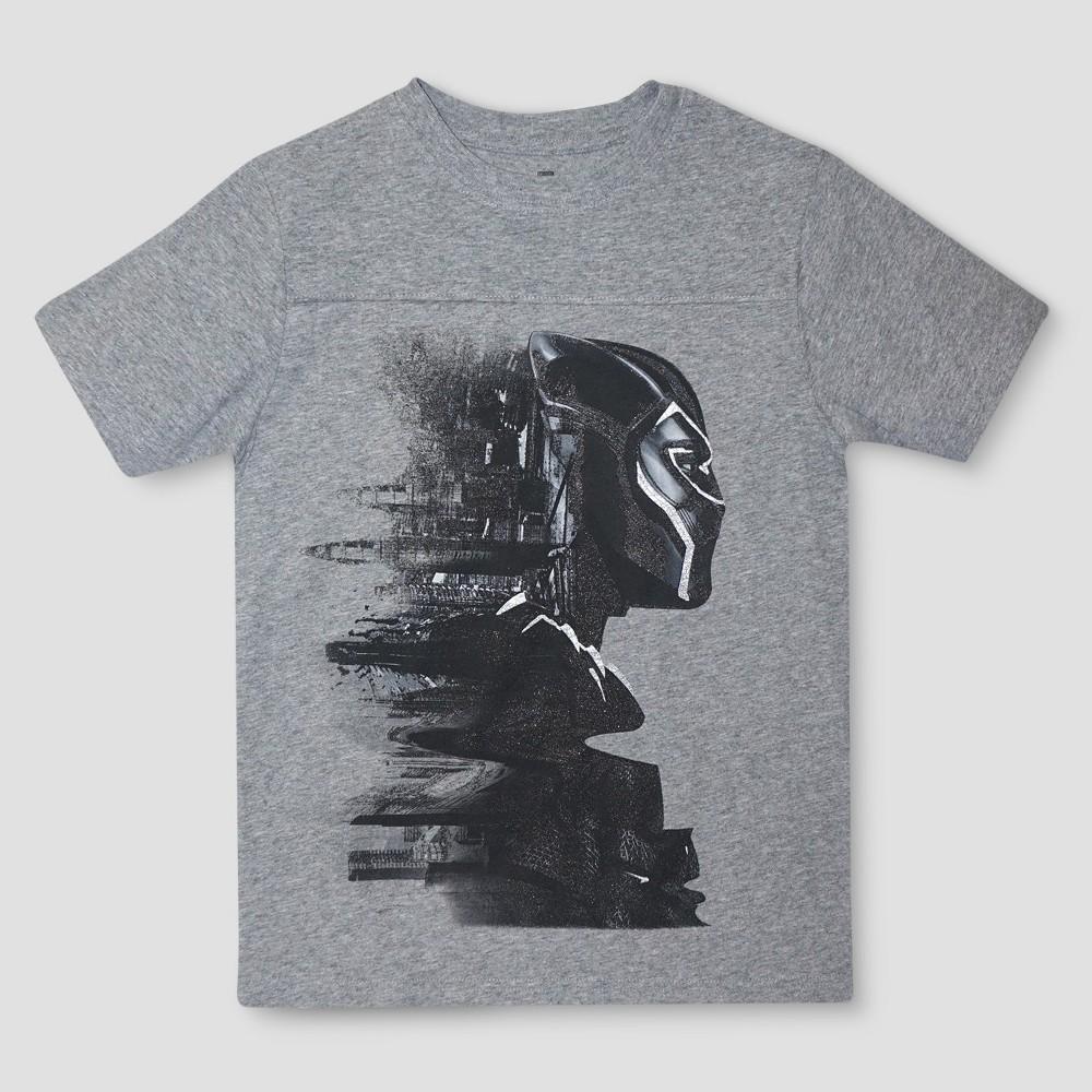 Boys' Black Panther Short Sleeve Graphic T-Shirt - Gray XS