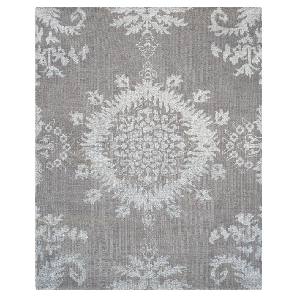 Gray Botanical Knotted Area Rug - (8'X10') - Safavieh