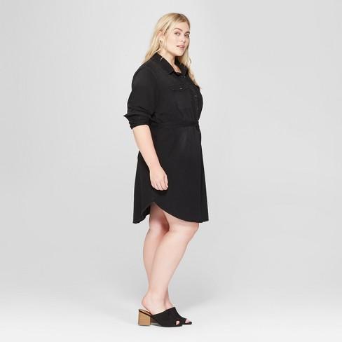 Womens Plus Size Denim Shirt Dress Universal Thread Target