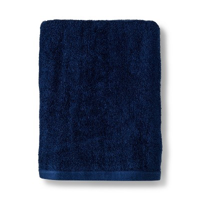 Solid Bath Towel Navy Blue - Room Essentials™