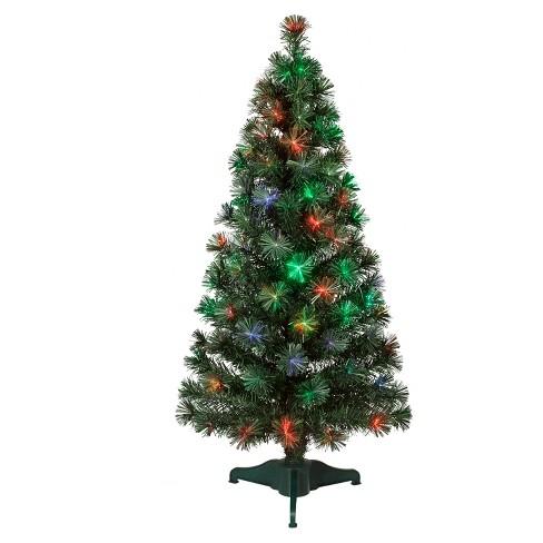 philips 4ft prelit artificial christmas tree led fiber optic slim