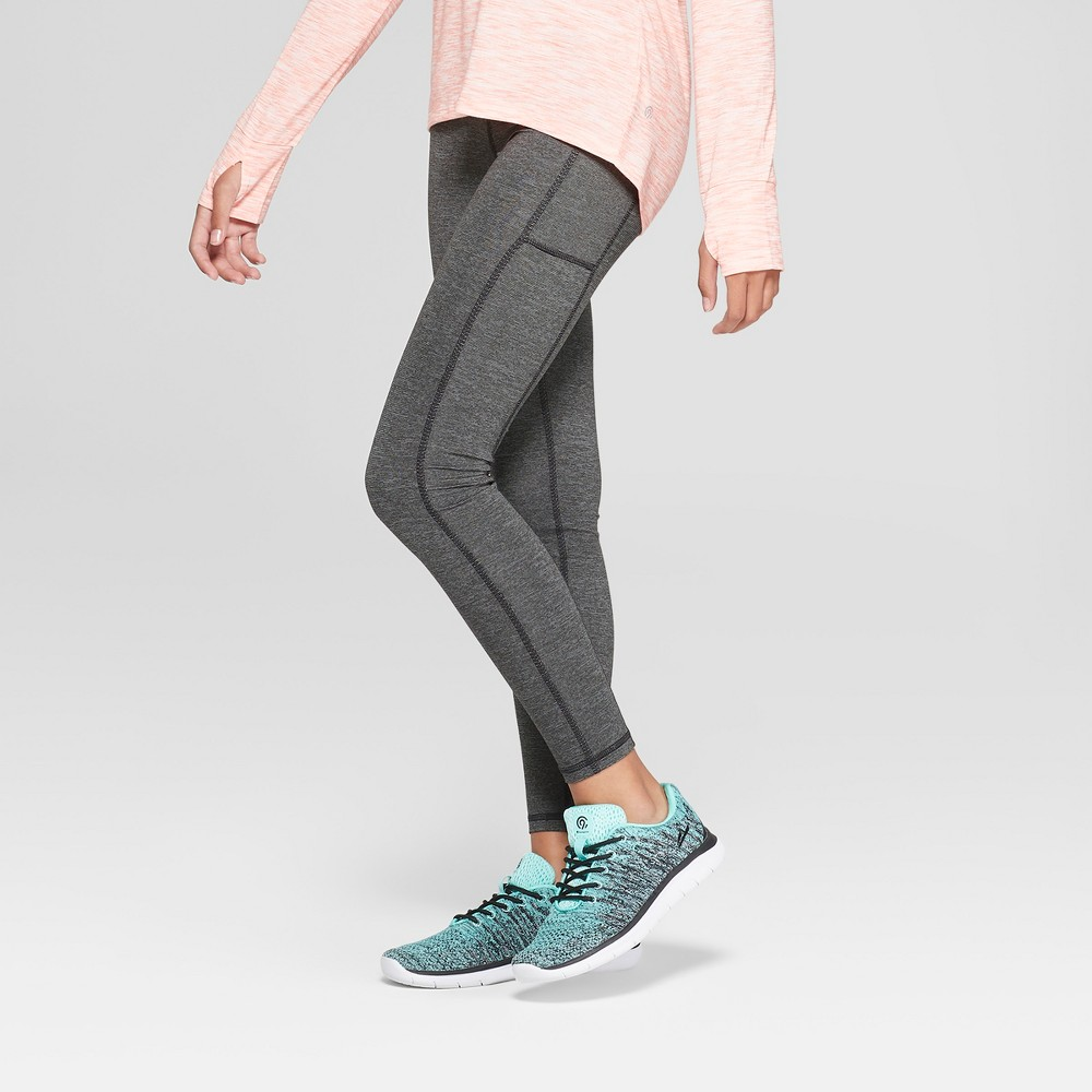 Girls' Premium Performance Leggings with Pockets - C9 Champion Heather Grey S