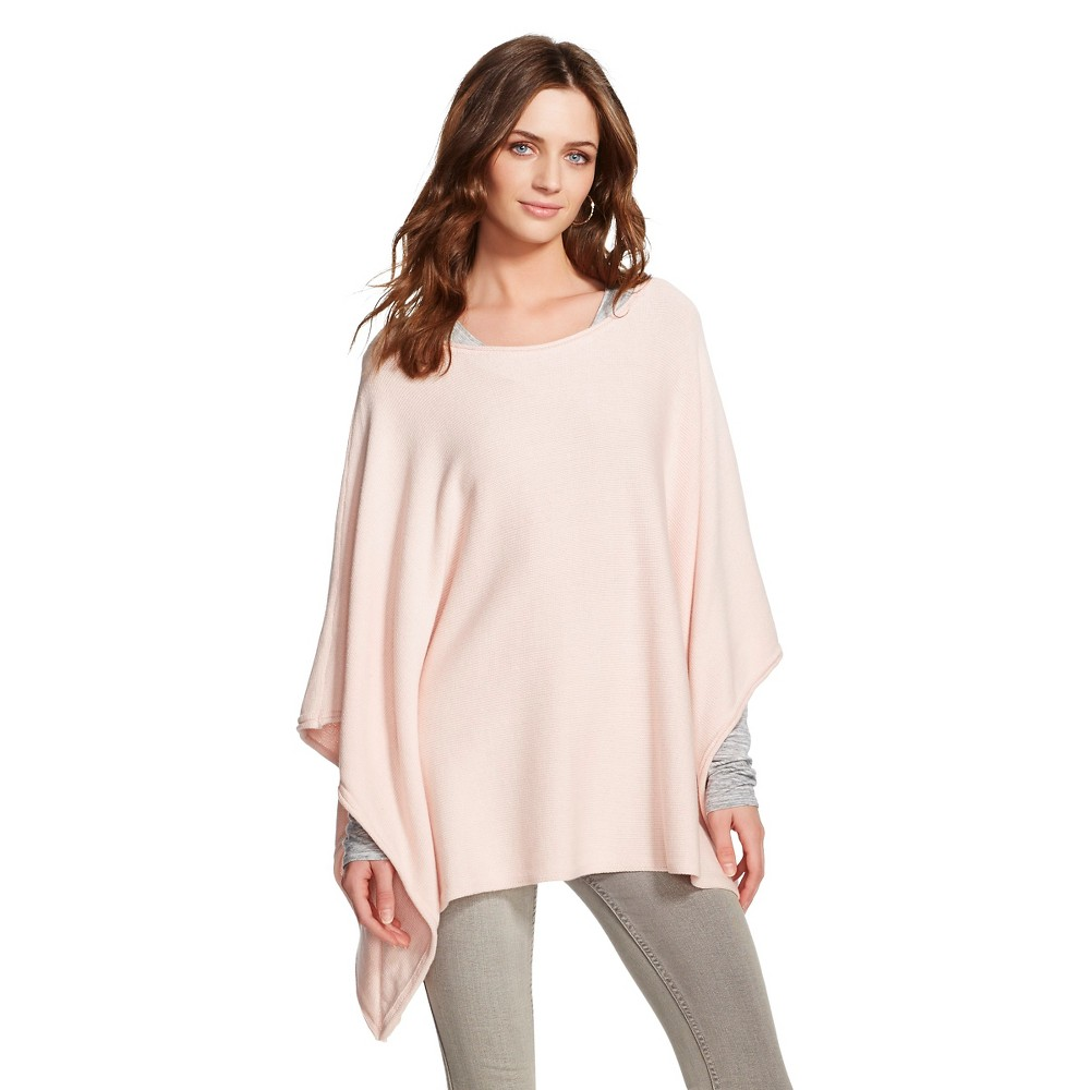 Image of Women's Solid Sweater Poncho Dusty Ballet L/XL - 262.5