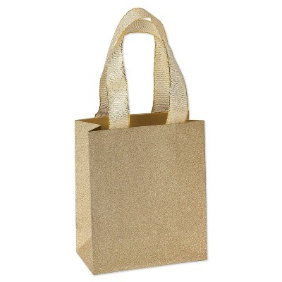 6ct Treat Gift Bags Gold Glitter - PAPYRUS