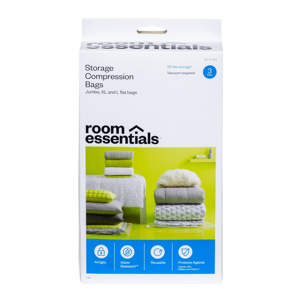 Compression Bags 3 Bag Combo Clear - Room Essentials