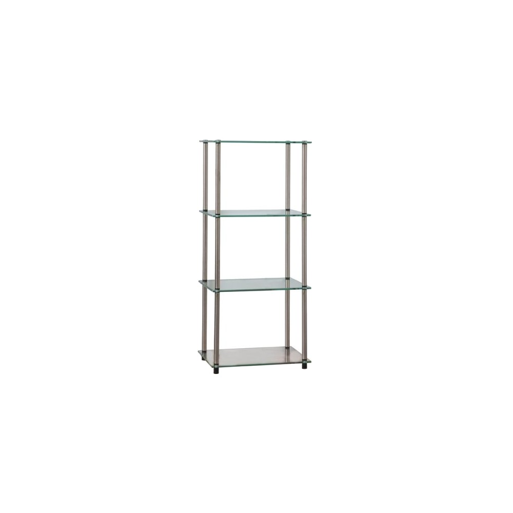 39 34 Classic Glass 4 Tier Tower Clear Glass Breighton Home