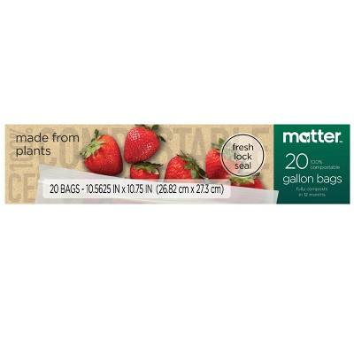 Matter 100% Compostable Gallon Bags - 20ct