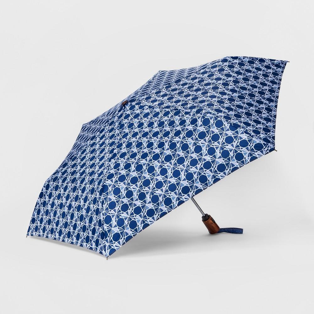 ShedRain Auto Open Close Compact Umbrella - Denim Blue