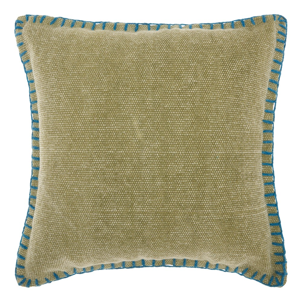 """Image of """"20""""""""x20"""""""" Solid Throw Pillow Green - Mina Victory"""""""