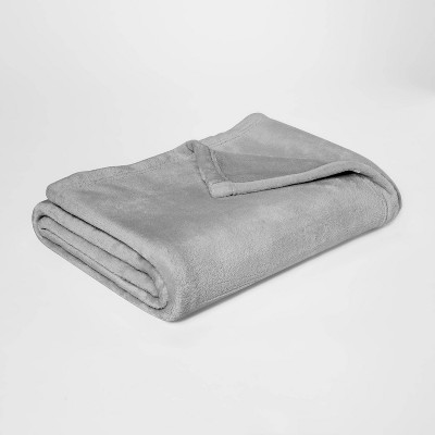 Plush Throw Blankets Gray - Room Essentials™