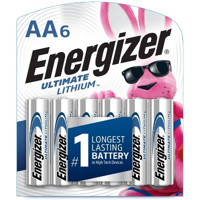 Energizer 6pk Ultimate Lithium AA Batteries