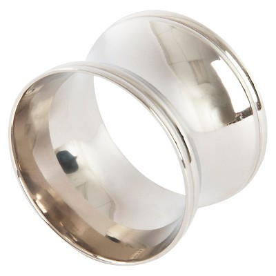 Round Shape Napkins Rings - Silver (Set of 4)