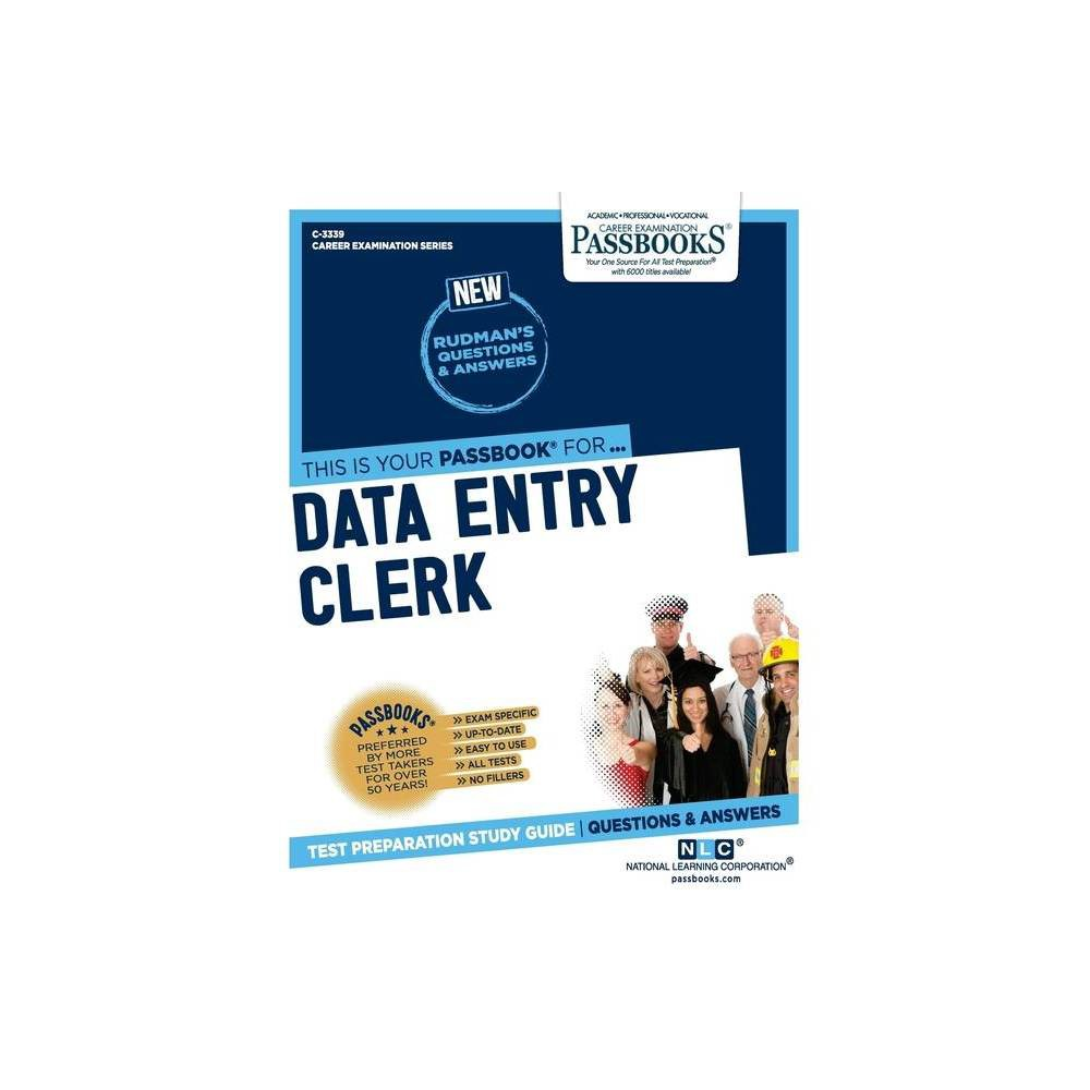 Data Entry Clerk Career Examination By National Learning Corporation Paperback