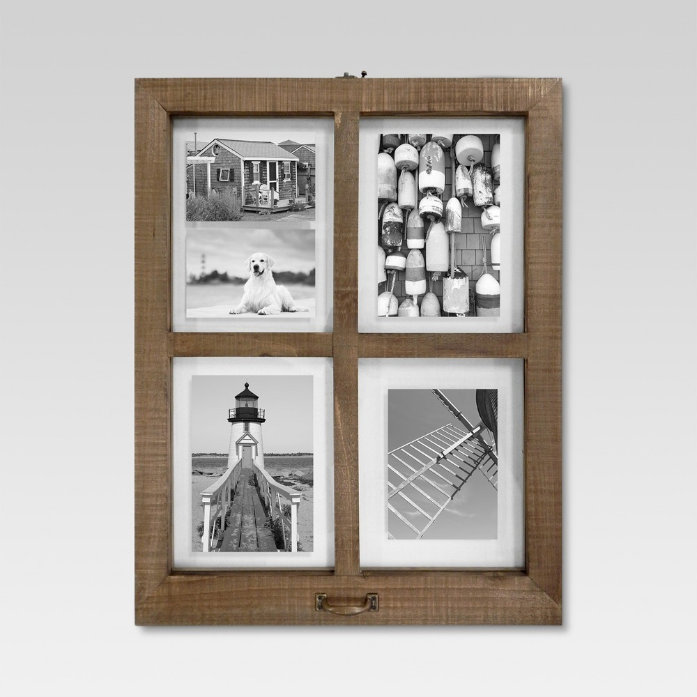 Image of 4 Opening Windowpane Frame - Raw Wood
