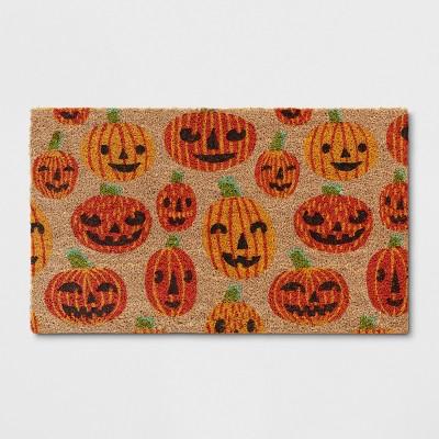 1'6 x2'6  Halloween Pumpkin Doormat Orange - Hyde and Eek! Boutique™
