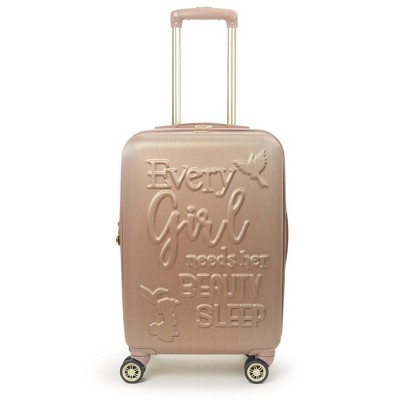 "FUL Disney Princess Aurora Sleeping Beauty 21"" Carry On Hardside Spinner Suitcase - Rose Gold"