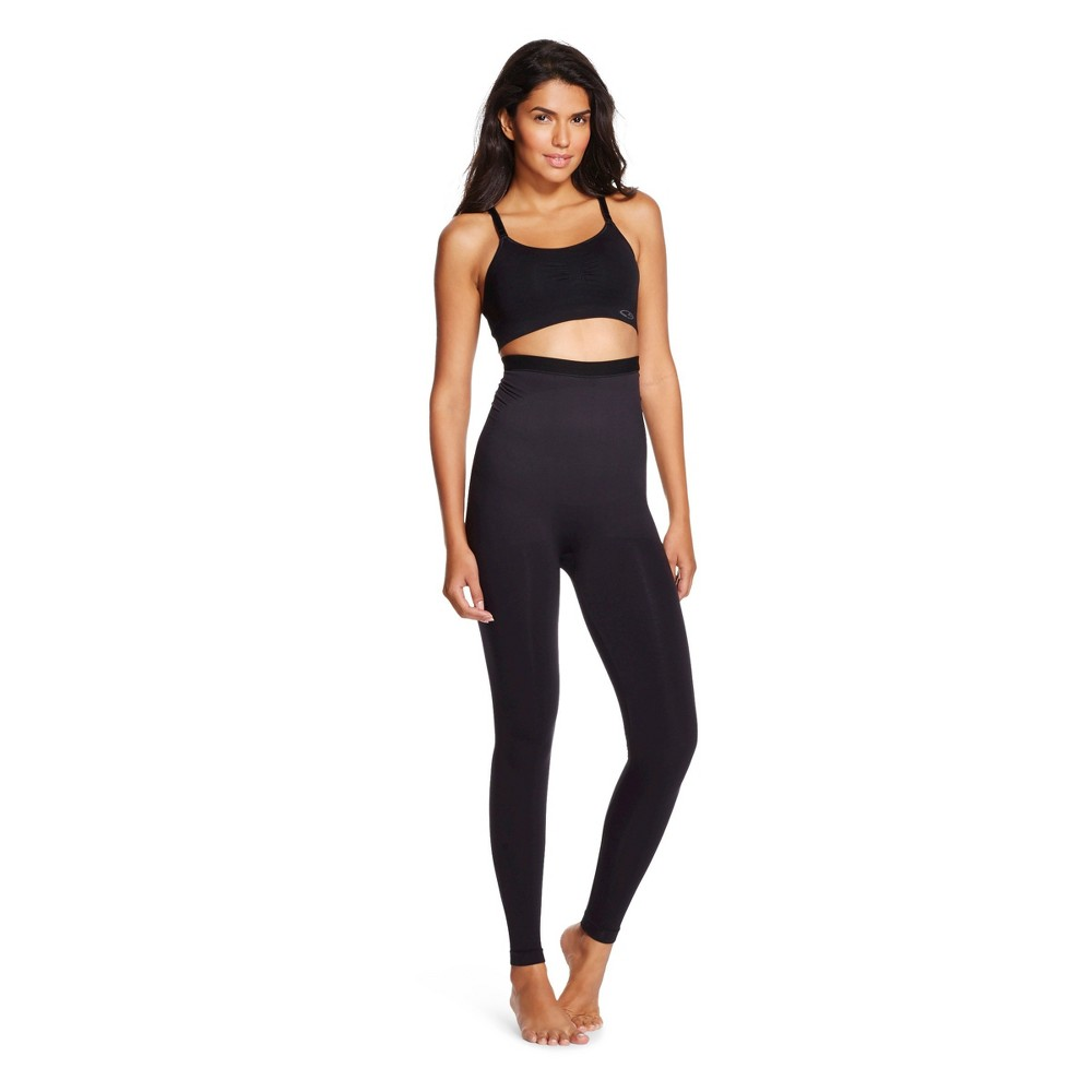 Image of Assets By Spanx Women's Hi Waist Seamless Leggings - Black L, Size: Large