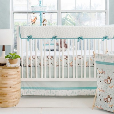 Crib Liner My Baby Sam White Aqua