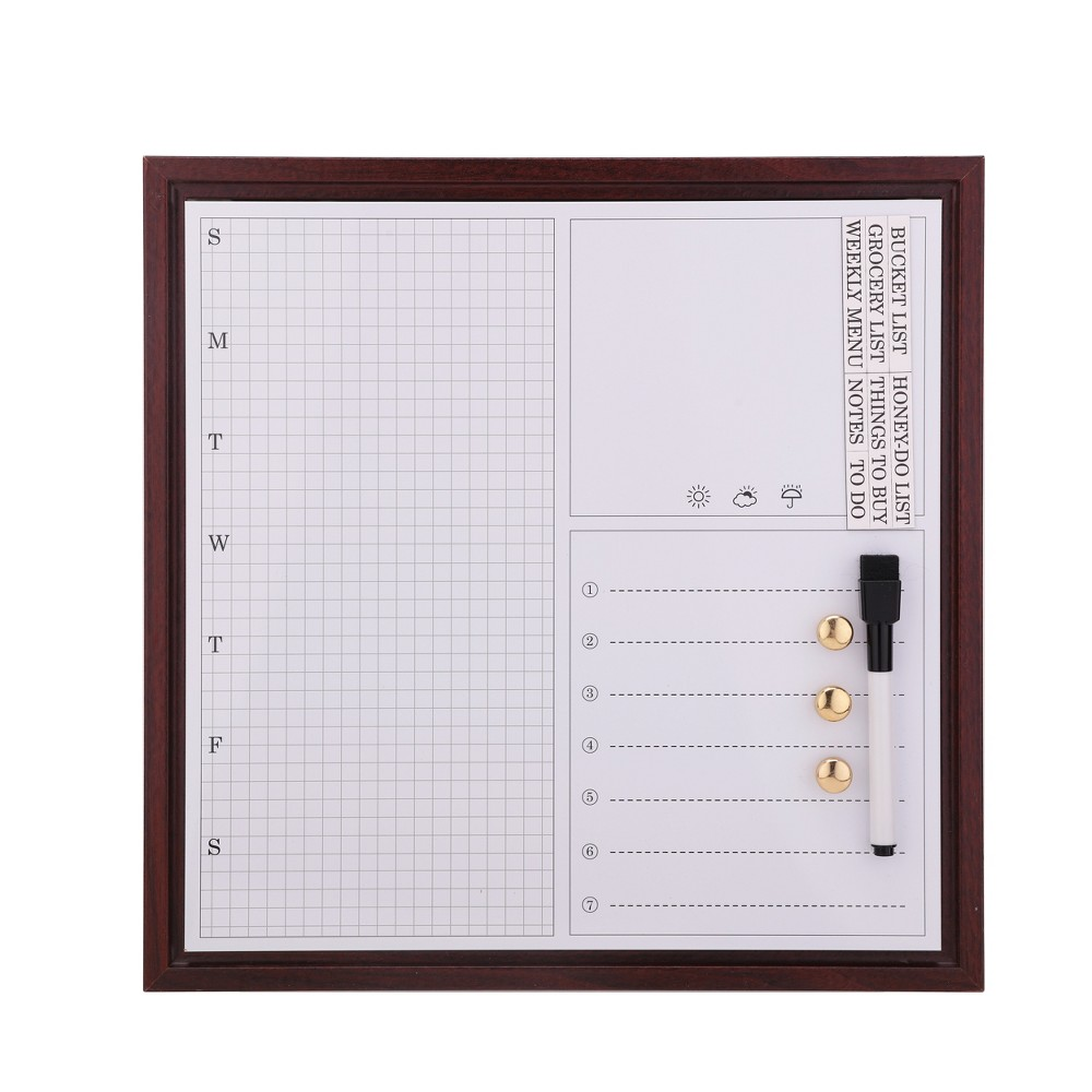 White Board Calendar 12''x12'' with Sheet Magnets - Threshold