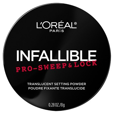 L'Oréal Paris Infallible Pro Sweep & Lock Loose Setting Powder Translucent- 0.28oz