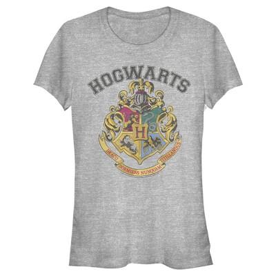 Junior's Harry Potter Vintage Hogwarts Crest T-Shirt