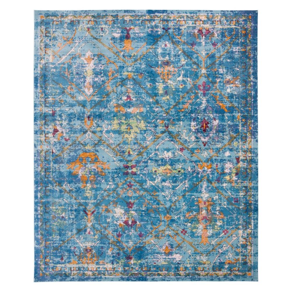 9'X12' Medallion Loomed Area Rug Blue - Safavieh, Multicolored