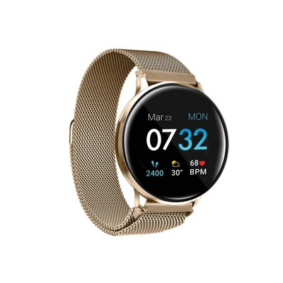 iTouch Sport Fitness Smartwatch - Gold Case with Gold Mesh Strap