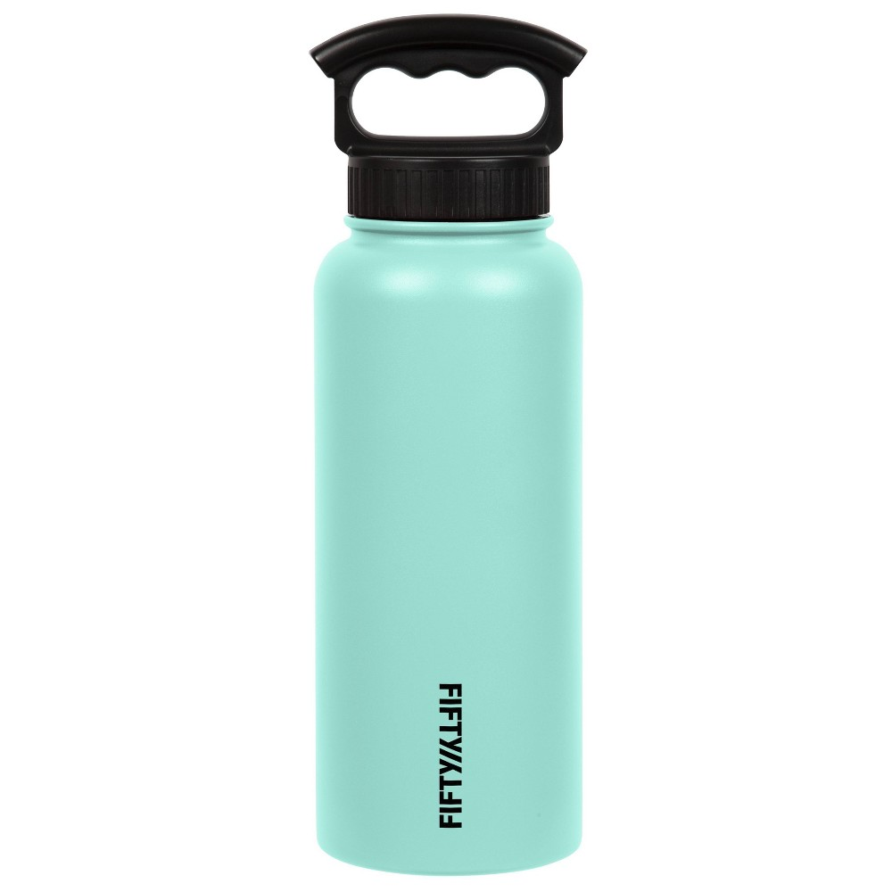 Image of FIFTY/FIFTY 34oz Bottle 3 Finger Grip Cap Cool Mint