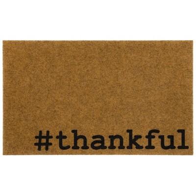 "1' 6""x2' 6"" Pinchededge Hashtag Thankful Door Mat - Mohawk"