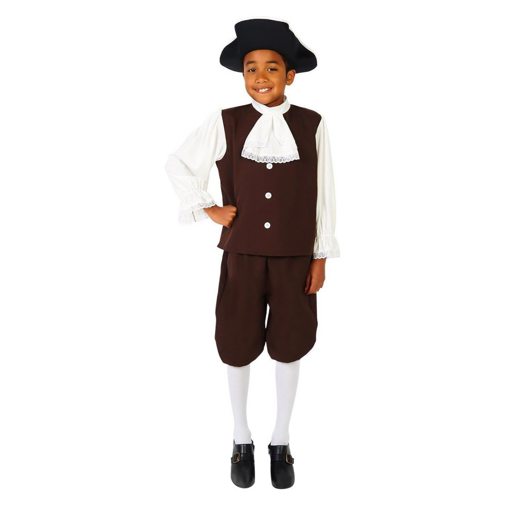 Kids' Colonial Boy with Jabot Costume Kit L, Multicolored
