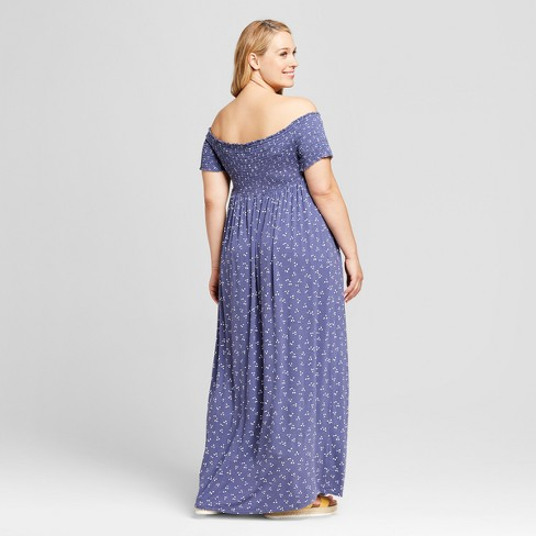 35c6fb53f81 Maternity Plus Size Smocked Maxi Dress - Isabel Maternity by Ingrid    Isabel™ Midnight Sky Print