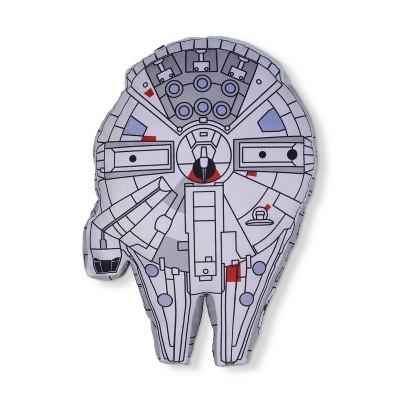 Star Wars® Millennium Falcon Gray Throw Pillow