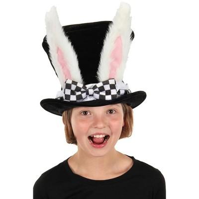 Elope Faux White Rabbit Topper Child Top Hat