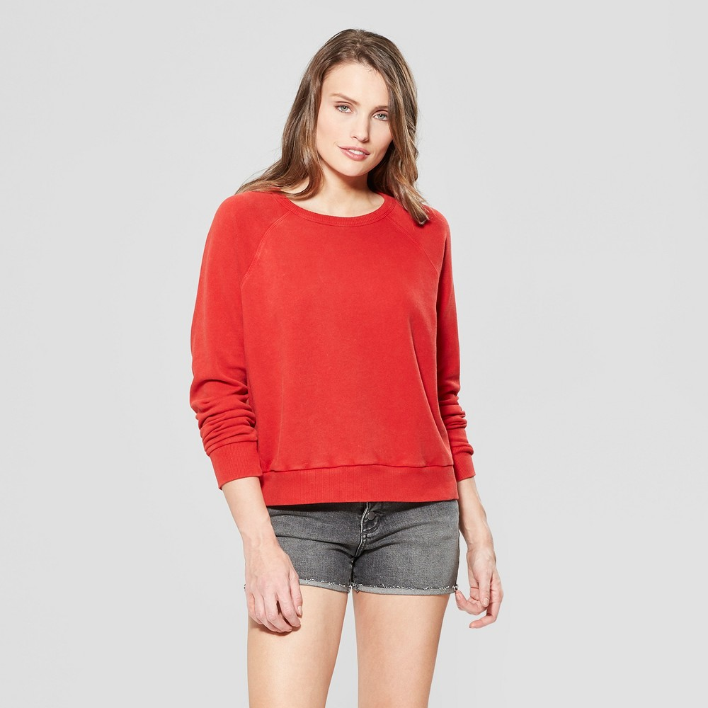 Women's Crew Neck Sweatshirt - Universal Thread Red L