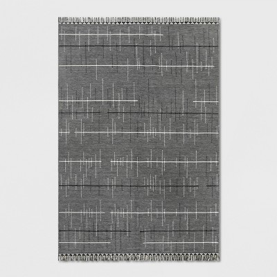 7' x 10' Linden Stripe Outdoor Rug Gray - Project 62™