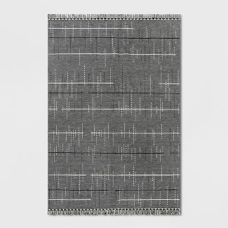 7' x 10' Linden Stripe Outdoor Rug Gray - Project 62™