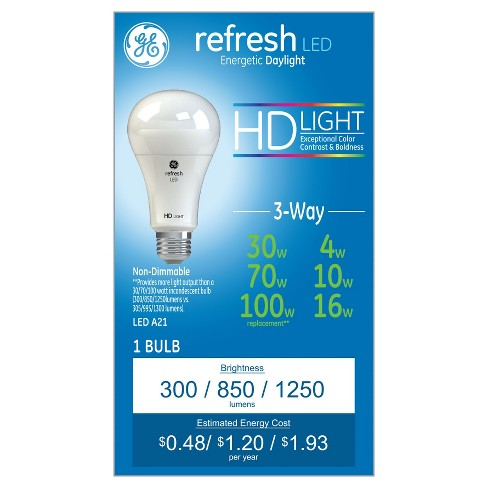 Refresh Daylight Hd 30-70-100Watt Equivalent 3Way LED - image 1 of 3