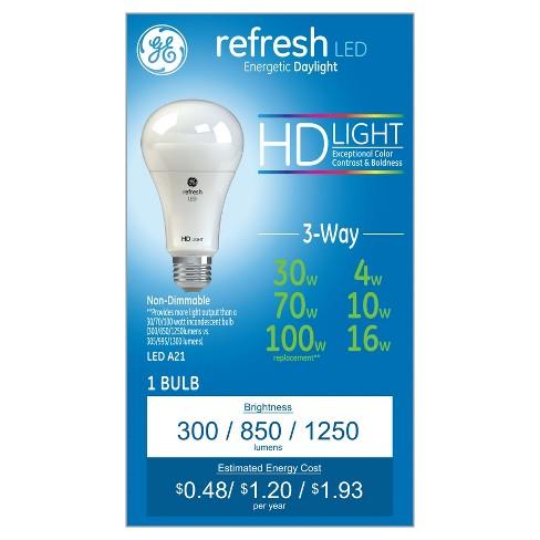 Refresh Daylight Hd 30 70 100watt Equivalent 3way Led