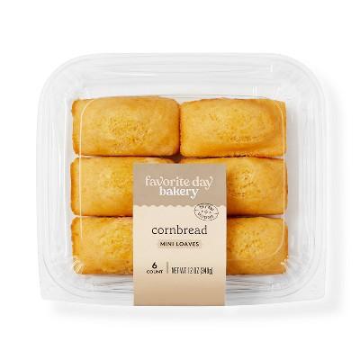 Cornbread Mini Loaves - 12oz/6ct - Favorite Day™