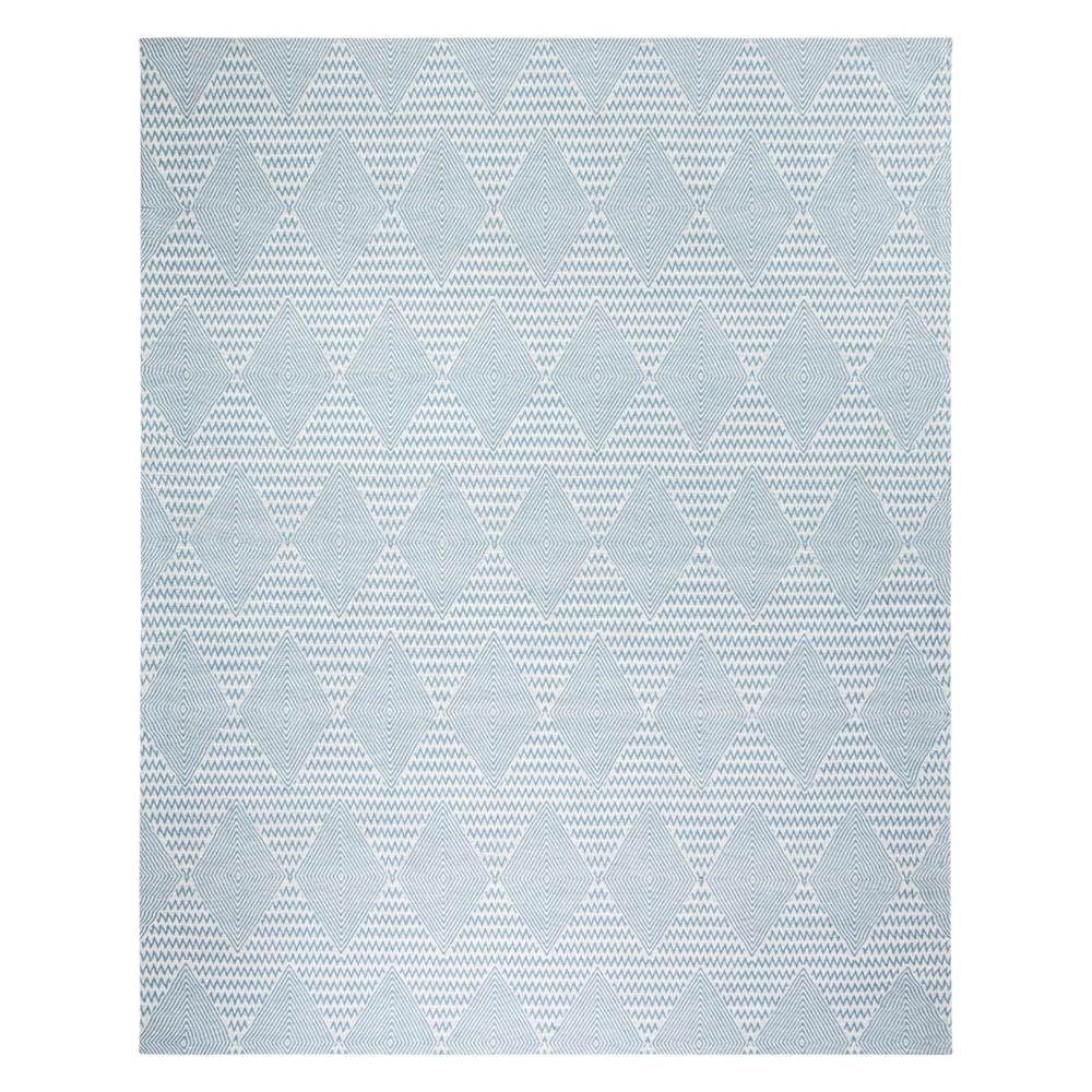 8'X10' Geometric Area Rug Light Blue/Ivory - Safavieh