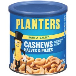 Planters Lightly Salted Halves And Pieces Cashews - 14oz