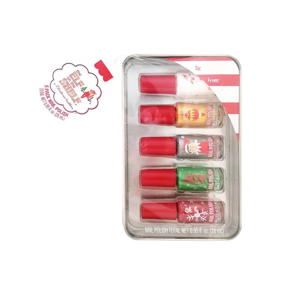 Elf on the Shelf Nail Polish Set - 5ct, Tin