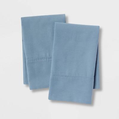 Standard 300 Thread Count Ultra Soft Pillowcase Set Light Indigo - Threshold™
