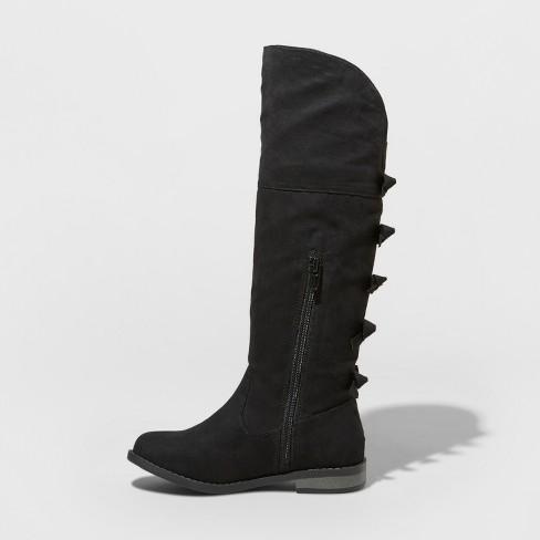 0a4f50b1b Girls' Leora Tall Boots - Cat & Jack™ Black 5 : Target